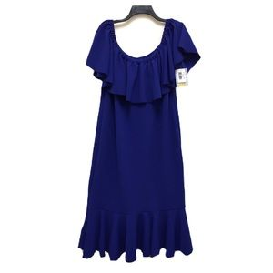 LulaRoe Cici Plus Size Maxi Cold Shoulder Dress